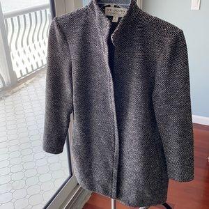 St. John black & gray tunic length jackets size 2